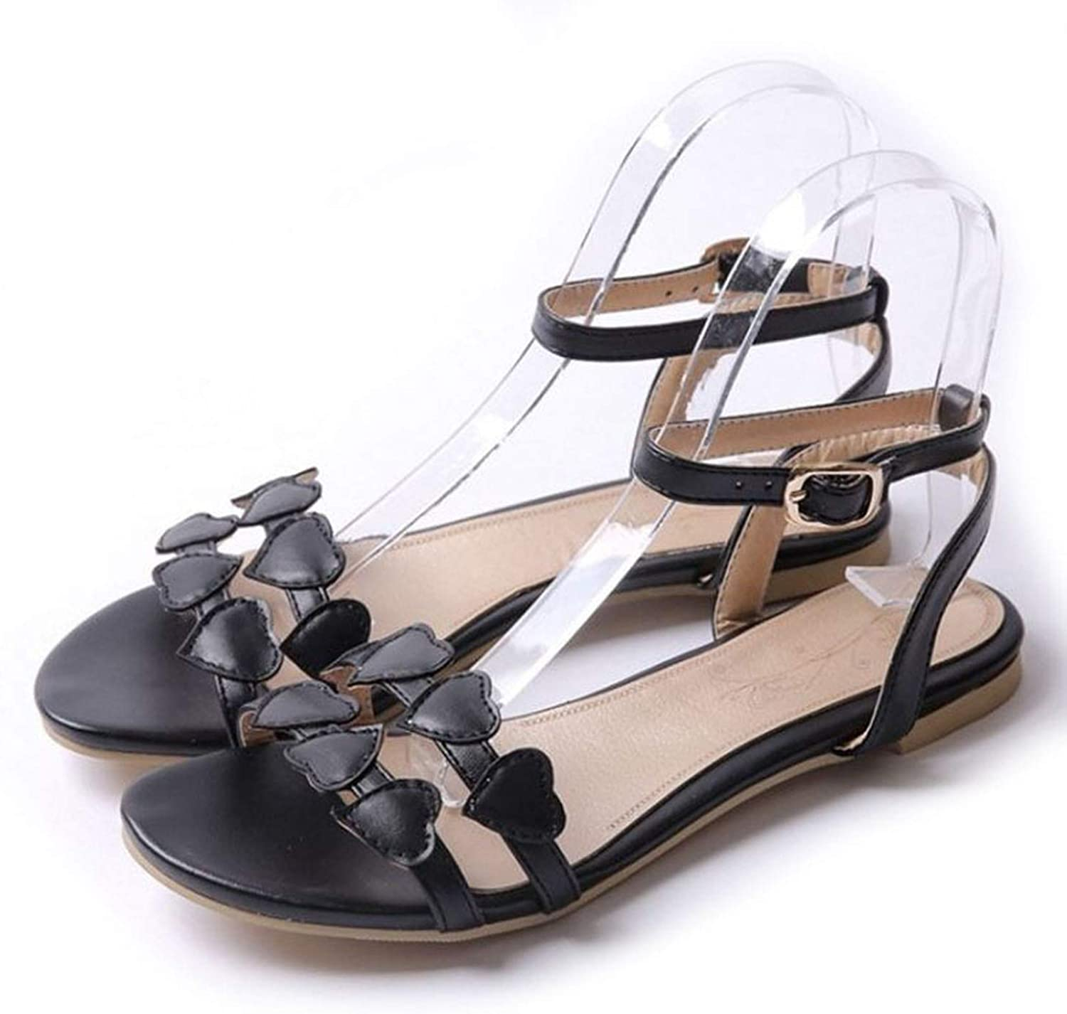 Women Sandals Solid color Ankle Strap Soft Flats shoes Comfort Leisure Outdoor Simple Women shoes