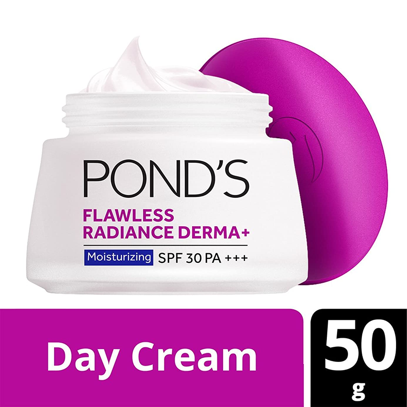 生先五月Pond's Flawless Radiance Derma+ SPF 30 PA+++ Moisturizing Day Cream, 50g from India (Parlel Import)