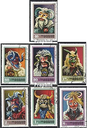 Prophila Collection Ungarn 2838A-2844A (kompl.Ausg.) 1973 Buscho-Treiben in Mohács (Briefmarken für Sammler) Kultur