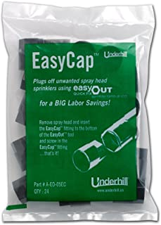 Underhill A-EO-05EC EasyCap Female FPT Fitting to Use with EasyOut Sprinkler Tool (24 Pack)