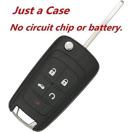 KAWIHEN Key Fob Shell Replacement for Chevy Camaro Cruze Equinox Impala Malibu SS Sonic Buick Encore LaCrosse Regal Verano GMC Terrain OHT01060512 KR55WK50073