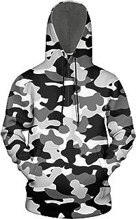 Military Diamond Camo Wool Trendy Hoodies Sweatshirt Mens'