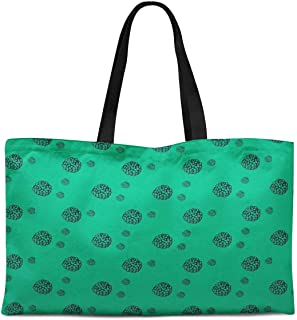 Mari Floral Print Canvas Shopping Tote Bag Carrying Handbag Casual Shoulder Bag 12x16 Inches