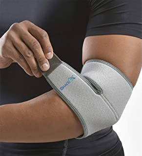 BraceFX Adjustable Elbow Support, Provides Pain Relief and Protection from Tendonitis, Tennis Elbow and Bursitis, One Size