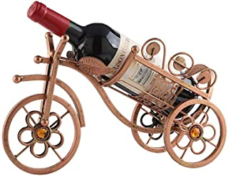 FSDFASS Botellero Triciclo Wine Rack Rattan Display Storage Metal Craftwork Decoración de la Pared Animal Botella de Vino A