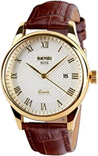 Skmei Casual Watch For Men Analog Leather - 9058