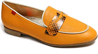 Genuine Leather Made in Brazil Womens Bryant Park 2.0 Loafer, Cheddar Nappa Soft/Viper, 7 US