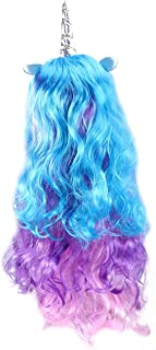 Frcolor Long Curly Unicorn Wig Costume Wigs cosplay Wigs for Kids Girls Teens and Adults (PONY Silver Horn Wig)