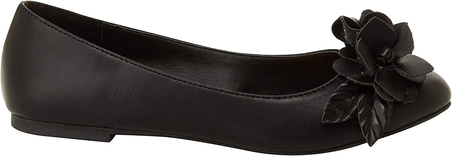 ESPRIT Womens Odina Faux Leather Floral Ballet Flats