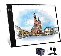 A4 Tracing Light Box قابل حمل چراغ جدول جداول رهبری تابلو Dimmable Brightness Artcraft Pad Light برای هنرمندان نقاشی طراحی دیجیتال نقاشی خال کوبی 5D DIY طراحی الماس