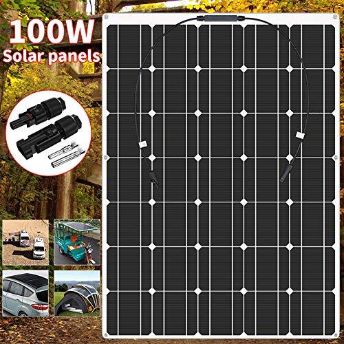 HMLIGHT Panel Solar 100W 18V Semi-Flexible de la célula Solar monocristalino DIY módulo FV conectador de Cable Exterior del Cargador de batería Impermeable