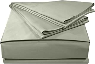 MADE IN THE USA 500TC 100% Cotton Sateen Solid Sheet Set, Twin, Sage By Veratex