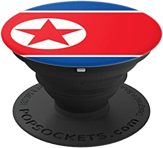 North Korea Flag North Korean Flag Pride Vacation Souvenir PopSockets Grip and Stand for Phones and Tablets