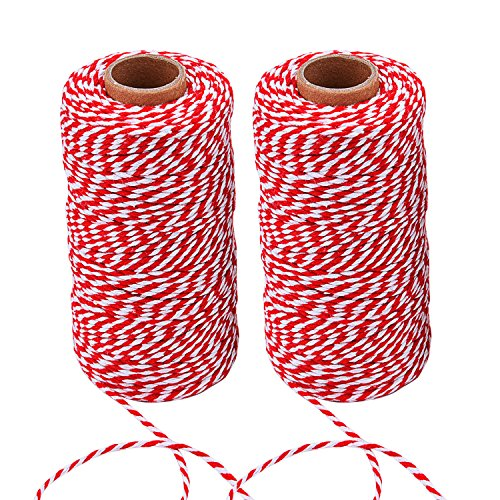 Sunmns Christmas Twine Cotton String Rope Cord for Gift Wrapping, Arts Crafts, 656 Feet (Multicolor D)
