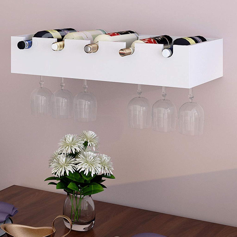 WAN SAN QIAN- Nordic Modern Wine Rack Wall Hanging Creative Wine Display Shelf Hanging Restaurant Storage Rack Home Wine rack (color   White)