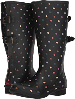 Versa Dot Rain Boot Wide Calf
