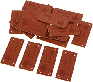 Bonarty 20 peças de enfeite feito à mão roupas de couro, etiqueta e acessórios de vestuário - B