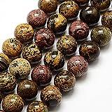 Perlas de Piedras Preciosas Naturales, Jaspe dendrico, ópalo...