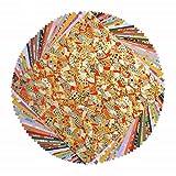 Yuzen Lot de 80 feuilles de papier washi japonais Motif chiyogami origami 15 x 15 cm