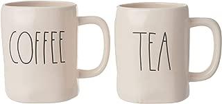 Rae Dunn by Magenta Tea and Coffee Mugs- Set of 2