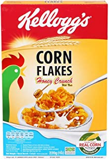 Kellogg's, Breakfast Cereal, Corn Flakes, Honey Crunch with Nuts, net weight 220 g (Pack of 1 piece)