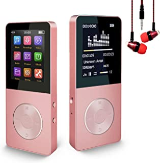 Mp3 Player, Hotechs Hi-Fi Sound, with FM Radio, Recording Function Build-in Speaker Expandable Up to 64GB with Noise Isola...