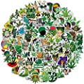 200 PCS Vinyl Waterproof Weed Stickers for Adults - Cool Funny DIY Marijuana Stickers Decals Decoration for Laptop Water Bottles Luggage Computer Cellphone Skateboard Guitar