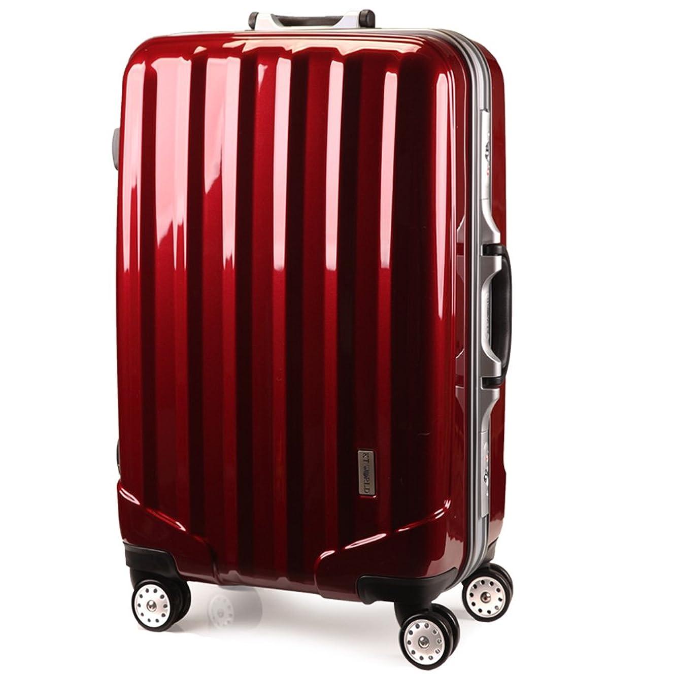 フレーム開閉式スーツケース TSAロック搭載 4輪ダブルキャスター [ケーテイーワールド] KT523ACX