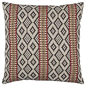 "Bring a striking global touch to your room with a high-contrast pillow cover. Intricate details in the layered yarns give it a chunky, satisfying texture. 20""x20"" Front: 43% Recyled Cotton, 28% Olefin, 14% Acrylic, 13% Polyester, 2% Cotton; Back: 55%..."