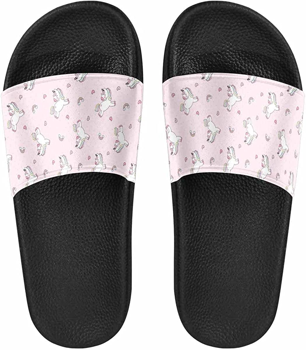 InterestPrint Cute Simple Watermelon with Dots Women's Slide Sandal Light Weight Cozy Outdoor Ladies Shoes