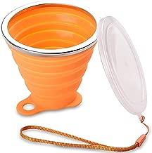 260ML Vaso Plegable con Tapa sin BPA para Camping Senderismo y Viaje DAZISEN 2 pcs Vasos Plegables Silicona