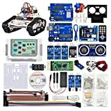 KOOKYE Robot Car Electronics Parts Kit with CD Tutorial for Arduino Tank Platform (Tank Chassis NOT Included)