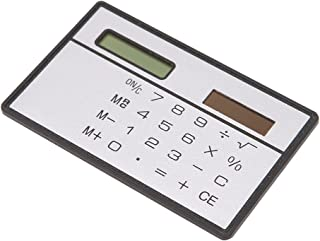Vitality-Store Calculator, Ultra-Thin Mini Credit Card Sized 8-Digit Solar Powered Pocket
