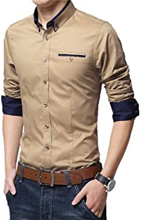 Fashion Mart India Mens White Casual Shirt Full Sleeve