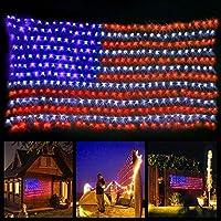 420 LED American Advanced Flag String Lights