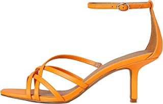 Marque Amazon - find. 90s Barely There Sandal, Bout Ouvert femme