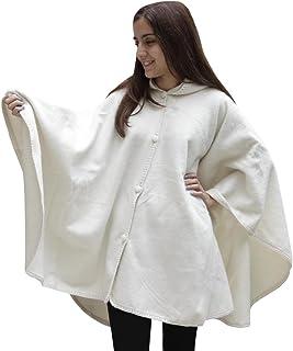 Alpaca Hooded Wool Short Cloak Cape