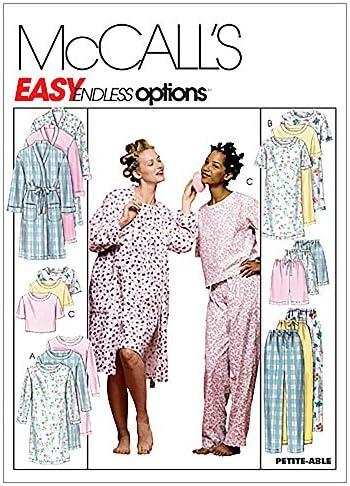 McCall/'s 6225 sewing pattern pour faire des filles robe de chambre pyjama short /& sépare