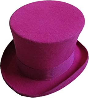 96bb5633eee Rose Pink Wool Felt Top Hat Steampunk Women Men Wedding Gentlemen Topper  Hats 7