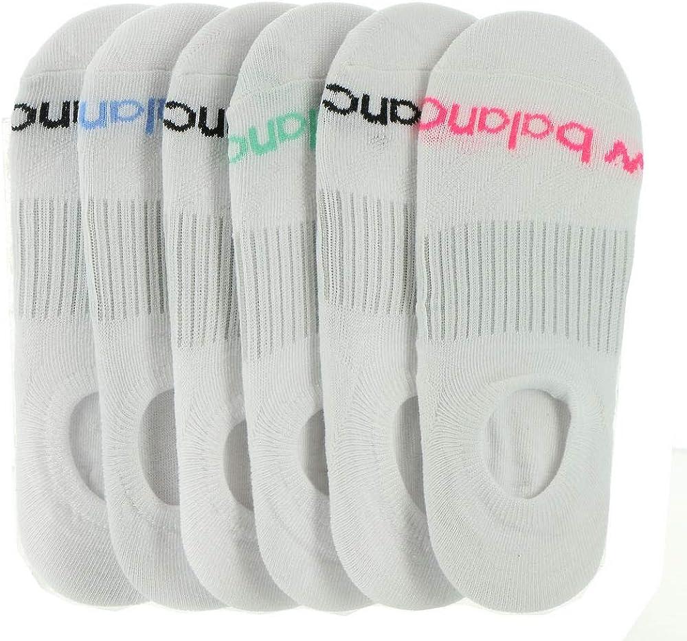 New Balance Women's Liner Sport Toe Logo 6 Pack Socks
