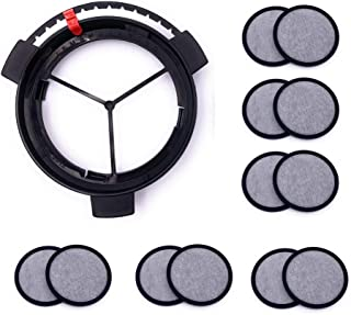 Replacement Coffee Maker Water Filter with Frame for Mr. Coffee Coffee Maker (1Disk Frame +12 Filter Disks)