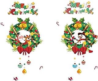 Woohooens 2 Navidad Pegatinas Ventana Decoracion Adornos navideños Vinilo Etiqueta de la Pared Decoración la Pared extraíb...