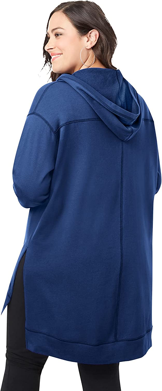 Roaman's Women's Plus Size Tunic Hoodie