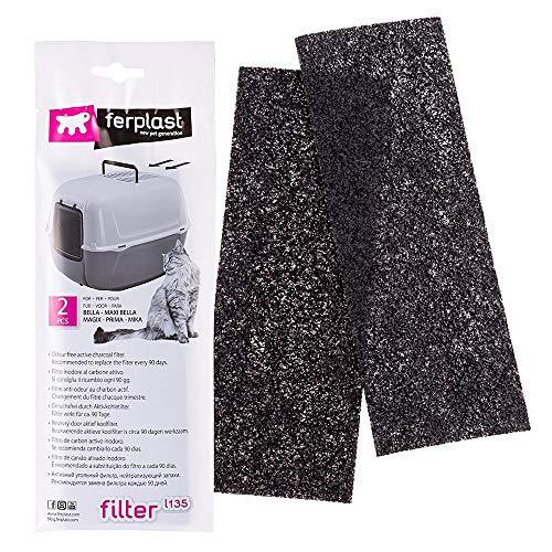 Filtro anti odore lettiera toliette Ferplast L135 2 pezzi neutralizza odori