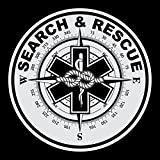 Search & Rescue Large Round Reflective Decal Sticker
