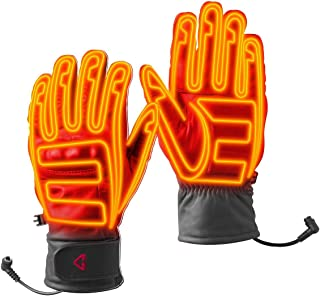 Gyde Gerbing 12V Hero Gloves - Motorcycle Heated Gloves with Short Cuff, Microwire Heating Panels, High Impact Knuckle Pro...