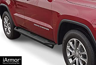 APS iArmor Aluminum Side Steps Armor Custom Fit 2011-2020 Jeep Grand Cherokee Sport Utility 4-Door (Excl. Diesel Model Will not fit with OE Skirt cladding) (Nerf Bars Side Steps Side Bars)