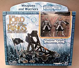 2003 - New Line / Play Along - Lord of the Rings : Armies of Middle Earth - Gondorian Catapult & 2 Gondorian Soldiers - Weapons & Warriors - Battle Scale Figures - Out of Production - Limited Edition - Collectible