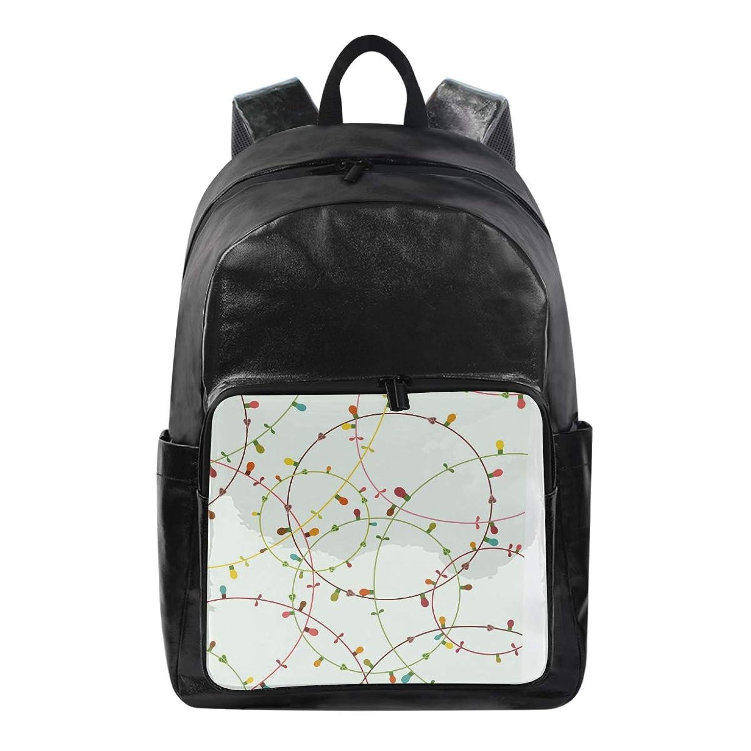 Backpack Color Lamp Bag Student Stylish Unisex Laptop Waterproof School Kindergarten Bag Rucksack for Teen Boys and Girls
