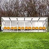 FORZA Banquillo Jugadores de Aluminio (Naranja, 8m / 16 Asientos)